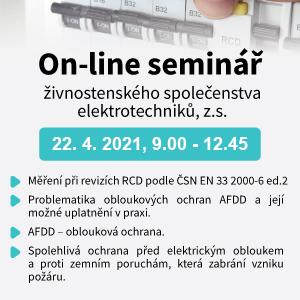 On-line seminář: Měření při revizích RCD podle ČSN EN 33 2000-6 ed.2, problematika obloukových ochran AFDD